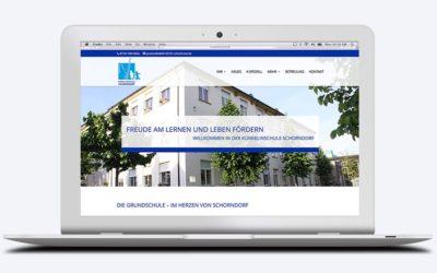 Die neue Website online